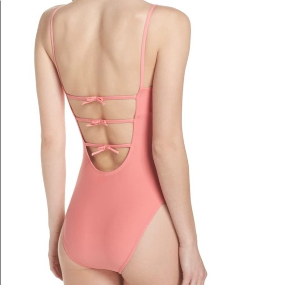 J. Crew Baby Bow Back One Piece Swimsuit pink 8
